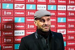 Bristol Rovers manager Paul Tisdale speaks to the press after Bristol Rovers win 6-0 - Rogan/JMP - 30/11/2020 - FOOTBALL - Memorial Stadium - Bristol, England - Bristol Rovers v Darlington - FA Cup Second Round Proper.