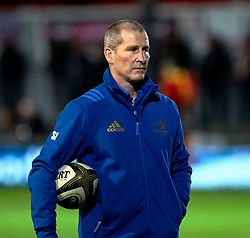 Coach Stuart Lancaster of Leinster<br /> <br /> Photographer Simon King/Replay Images<br /> <br /> Guinness PRO14 Round 10 - Dragons v Leinster - Saturday 1st December 2018 - Rodney Parade - Newport<br /> <br /> World Copyright © Replay Images . All rights reserved. info@replayimages.co.uk - http://replayimages.co.uk