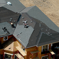 Aerial view of House under construction