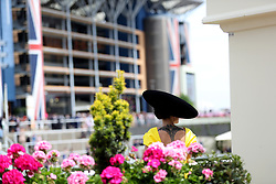 Racegoer Valerie Stark during day five of Royal Ascot at Ascot Racecourse.
