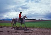 Riding Horseback near Kalispell, Montana.