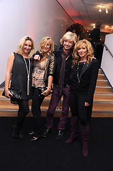 Left to right, NATASHA CORRETT, TILLY CLARKE, NICKY CLARKE and KELLY HOPPEN at the TAG Heuer British Formula 1 Party at the Mall Galleries, London on 15th September 2008.