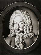 Gottfried Wilhelm von Leibniz (1646-1716).  German philosopher and mathematician. Published his system of infinitesimal calculus in 1684, three years before Newton who, however, claimed priority as inventor as his publication related to earlier work. The controversy was never settled. Mezzotint by Johann Elias Haid (1781) from portrait of 1714 by JG Auerbach.
