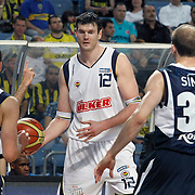 Fenerbahce's Darjus LAVRINOVIC (C) during their Turkish Basketball Legague Play-Off semi final first match Fenerbahce between Efes Pilsen at the Sinan Erdem Arena in Istanbul Turkey on Tuesday 24 May 2011. Photo by TURKPIX