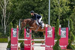 Hoogenraat Kim, Let It Shine<br /> Nationaal Kampioenschap KWPN<br /> 4 jarigen springen final<br /> Stal Tops - Valkenswaard 2020<br /> © Hippo Foto - Dirk Caremans<br /> 19/08/2020