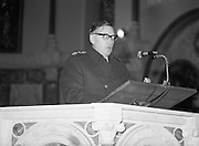 Garda Siochana Diamond Jubilee..1982.21.02,1982.02.21.1982.21st February 1982..Photograph of Garda Commissioner Patrick McLaughlin reading a lesson during the con-celebrated Mass. The Mass was celebrated in the Church of St, Paul of the Cross,Mount Argus,Dublin.