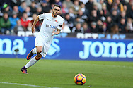 Borja Baston of Swansea city in action.Premier league match, Swansea city v Manchester Utd at the Liberty Stadium in Swansea, South Wales on Sunday 6th November 2016.<br /> pic by  Andrew Orchard, Andrew Orchard sports photography.