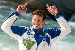 Bronze medalist Jure Meglic of Slovenia in the Men's Kayak K-1 at ICF Canoe Slalom World Championships - Sloka 2010 on September 12, 2010 in Tacen, Ljubljana, Slovenia (Photo by Matic Klansek Velej / Sportida)