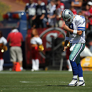 during an NFL football game between the Dallas Cowboys and the San Francisco 49ers at Candlestick Park on Sunday, Sept. 18, 2011 in San Francisco, CA.   (Photo/Alex Menendez)