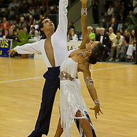 Andrea Silvestri and Martina Varadi of Hungary perform their dance during the MTASZ Latin Hungarian National Championships organized by Karoly Futo held at Mihaly Magvassy City Sports Hall. Budapest, Hungary. Saturday, 03. November 2007. ATTILA VOLGYI