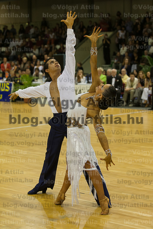 Andrea Silvestri and Martina Varadi of Hungary perform their dance during the MTASZ Latin Hungarian National Championships organized by Karoly Futo held at Mihaly Magvassy City Sports Hall. Budapest, Hungary. Saturday, 03. November 2007. ATTILA VOLGYI