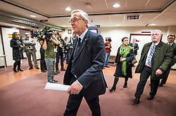 Jean-Claude Juncker, Luxembourg's prime minister, makes his way to his press briefing, following the conclusion of the EU Summit, at the European Council headquarters in Brussels, Belgium on Friday, Dec. 14, 2012. (Photo © Jock Fistick)