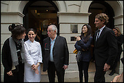 HELENA RIZZO; ELENA ARZAK; JUAN MARI ARZAK; LANSHU CHEN; AYMERIC SANCERRE , Veuve Clicquot World's Best Female chef champagne tea party. Halkin Hotel. Halkin St. London SW1. 28 April 2014.