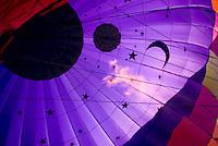 Preparing hot air ballooon for flight Quechee Vermont USA