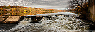 One can almost feel the force of rolling high water over a breach in the old Challenge facotry dam. This is the Fox River in Batavia, IL.