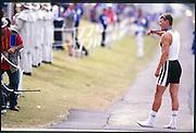 Sydney. AUSTRALIA. 2000 Summer Olympic Regatta, Penrith. NSW.  <br /> <br /> GER M1X Marcel HACKER, Bronze Medalist<br /> <br /> <br /> [Mandatory Credit Peter SPURRIER/ Intersport Images] Sydney International Regatta Centre (SIRC) 2000 Olympic Rowing Regatta00085138.tif