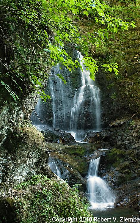 """""""Moss Glen Falls 6""""-An image of moss glen falls near Stowe, Vermont."""