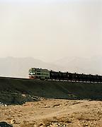 Freight Train, Silk Route; Dunhuang, Jiuquan, Gansu Province, China.