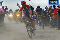 Sykkel<br /> 13.04.2014<br /> Foto: PhotoNews/Digitalsport<br /> NORWAY ONLY<br /> <br /> ROUBAIX - APRIL 13: HUSHOVD Thor (NOR - BMC Racing team) in action during  the 112th Paris-Roubaix 2014 Cycling race on April 13, 2014 in Roubaix, France