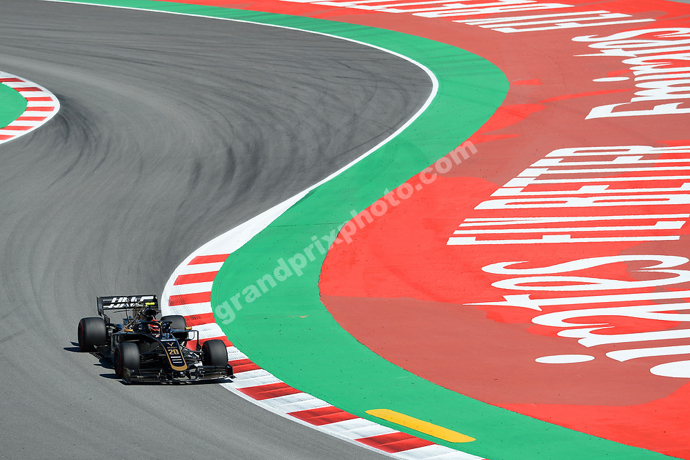 Kevin Magnussen (Haas-Ferrari) during practice before the 2019 Spanish Grand Prix at the Circuit de Barcelona-Catalunya. Photo: Grand Prix Photo