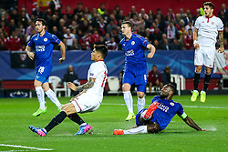 Joaquin Correa of Sevilla scores a goal to make it 2-0  - Rogan Thomson/JMP - 22/02/2017 - FOOTBALL - Estadio Ramon Sanchez Pizjuan - Seville, Spain - Sevilla FC v Leicester City - UEFA Champions League Round of 16, 1st Leg.