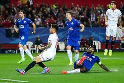 Joaquin Correa of Sevilla scores a goal to make it 2-0  - Rogan Thomson/JMP - 22/02/2017 - FOOTBALL - Estadio Ramon Sanchez Pizjuan - Seville, Spain - Sevilla FC v Leicester City - UEFA Champions League Round of 16, 1st Leg.