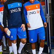 NLD/Katwijk/20100809 - Training van het Nederlands elftal, keeper Piet Velthuizen en Vurnon Anita