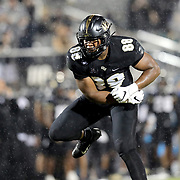 ORLANDO, FL - OCTOBER 03:  Joshua Celiscar #88 of the Central Florida Knights celebrates after he sacks quarterback Zach Smith #11 of the Tulsa Golden Hurricane at Bright House Networks Stadium on October 3, 2020 in Orlando, Florida. (Photo by Alex Menendez/Getty Images) *** Local Caption *** Joshua Celiscar; Zach Smith