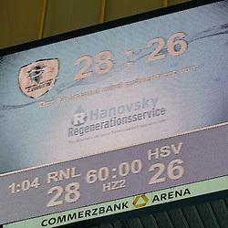 Sieg der Rhein-Neckar Loewen gegen das Team vom HSV Handball im Spiel Rhein-Neckar-Loewen - HSV Handball.<br /> <br /> Foto © P-I-X.org *** Foto ist honorarpflichtig! *** Auf Anfrage in hoeherer Qualitaet/Aufloesung. Belegexemplar erbeten. Veroeffentlichung ausschliesslich fuer journalistisch-publizistische Zwecke. For editorial use only.