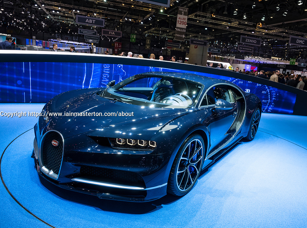 New Bugatti Chiron at 87th Geneva International Motor Show in Geneva Switzerland 2017