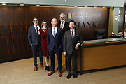 SHOT 1/8/19 12:13:30 PM - Bachus & Schanker LLC lawyers James Olsen, Maaren Johnson, J. Kyle Bachus, Darin Schanker and Andrew Quisenberry in their downtown Denver, Co. offices. The law firm specializes in car accidents, personal injury cases, consumer rights, class action suits and much more. (Photo by Marc Piscotty / © 2018)