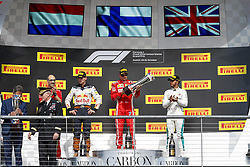 October 21, 2018 - Austin, United States - Motorsports: FIA Formula One World Championship; 2018; Grand Prix; United States, FORMULA 1 PIRELLI 2018 UNITED S GRAND PRIX , Circuit of The Americas#7 Kimi Raikkonen (FIN, Scuderia Ferrari), #44 Lewis Hamilton (GBR, Mercedes AMG Petronas F1 Team), #33 Max Verstappen (NDL, Red Bull Racing) (Credit Image: © Hoch Zwei via ZUMA Wire)