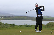 Joshua McCabe (Roganstown) on the 6th tee during Round 3 of the Ulster Boys Championship at Donegal Golf Club, Murvagh, Donegal, Co Donegal on Friday 26th April 2019.<br /> Picture:  Thos Caffrey / www.golffile.ie