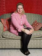 Suha Arafat at home in the Gaza strip, 1997. Magazine Portrait photograph by Debbie Zimelman