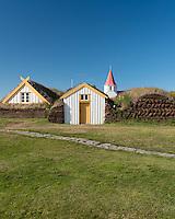 Glaumbær Turf Farm in Skagafjörður, North Iceland.