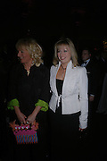 Carol Thatcher and Ffion Hague. The Black and White Winter Ball. Old Billingsgate. London. 8 February 2006. -DO NOT ARCHIVE-© Copyright Photograph by Dafydd Jones 66 Stockwell Park Rd. London SW9 0DA Tel 020 7733 0108 www.dafjones.com