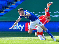 Football - 2020 / 2021 Sky Bet Championship - Cardiff City vs Wycombe Wanderers - Cardiff City Stadium<br /> <br /> Curtis Thompson Wycombe Wanderers is upended  by a challenge from Will Vaulks Cardiff City, for which Vaulks is shown the red card, in injury time, minutes after coming on as a replacement.<br /> <br /> COLORSPORT/WINSTON BYNORTH