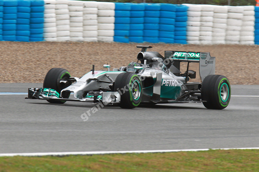 Nico Rosberg (Mercedes) during the Formula 1 test in Jerez (Spain) in late January 2014. Photo: Grand Prix Photo