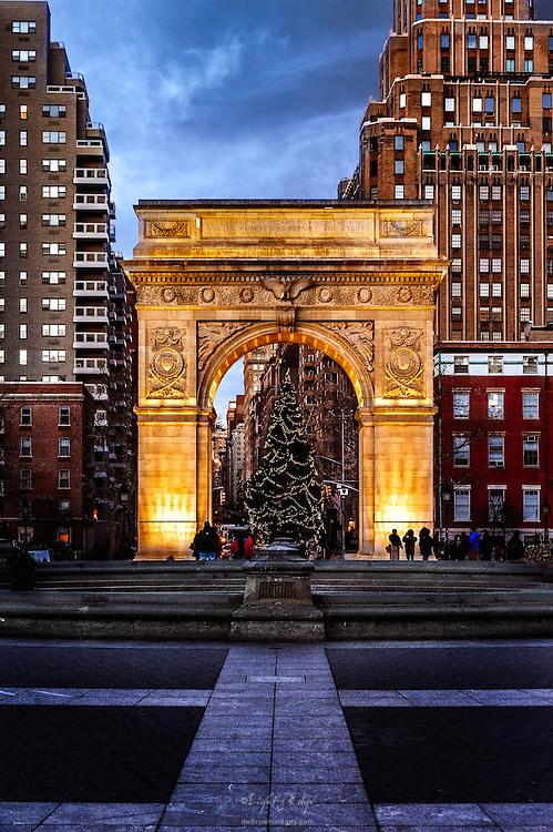 Washington Square Arch in New York City.