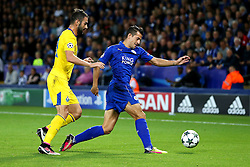 Luis Hernandez of Leicester City in action - Mandatory by-line: Matt McNulty/JMP - 27/09/2016 - FOOTBALL - King Power Stadium - Leicester, England - Leicester City v FC Porto - UEFA Champions League
