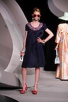 Eva Helene Skarvig walks the runway  at the Christian Dior Cruise Collection 2008 Fashion Show