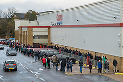 © Licensed to London News Pictures. 03/11/2020. Watford, UK. Members of the public queue to enter COSTCO in Watford, Hertfordshire ahead of a second national lockdown later this week. Strict measures are due to be re-introduced in an attempt to fight a second wave of the COVID-19 strain of Coronavirus. Photo credit: Ben Cawthra/LNP