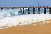 Big Waves At Newport Beach Pier