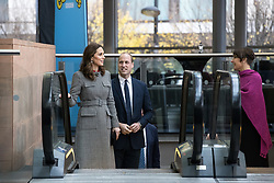 © Licensed to London News Pictures . 06/12/2017 . Manchester , UK . The Duke And Duchess Of Cambridge, Prince William and Kate Middleton, and BBC's Alice Webb , attend the Children's Global Media Summit at the Manchester Central Convention Centre . Photo credit : Joel Goodman/LNP