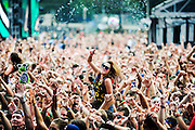 The crowd during Crizzly's set on Perry's Stage at Lollapalooza.