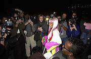 Lil' Kim Sean John fashion show.Bryant Park, New York. 4/2/00<br />© Copyright Photograph by Dafydd Jones 66 Stockwell Park Rd. London SW9 0DA Tel 0171 733 0108 www.dafjones.com