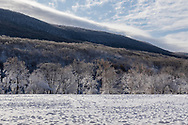 A view of Clove Brook Farm and Schunnemunk Mountain on the morning after a snowstorm in Cornwall, N.Y., on Dec. 3, 2019.
