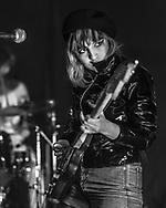 Paz Bonfil of glam-rock band Jealous supporting Gurr at Kulturclub schon schön in Mainz