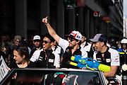 June 10-16, 2019: 24 hours of Le Mans. 8 TOYOTA GAZOO RACING, TOYOTA TS050 - HYBRID, Sébastien BUEMI, Kazuki NAKAJIMA, Fernando ALONSO , driver's parade