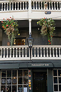 The George Inn on the 24th September 2019 in London in the United Kingdom. The George Inn is an authentic 17th-century coaching inn and pub near London Bridge.